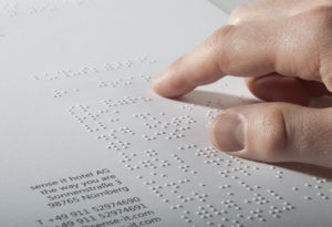 Briefpapier Braille